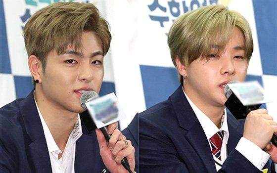 그룹 아이콘 멤버 구준회(왼쪽)와 김진환./사진=머니투데이DB