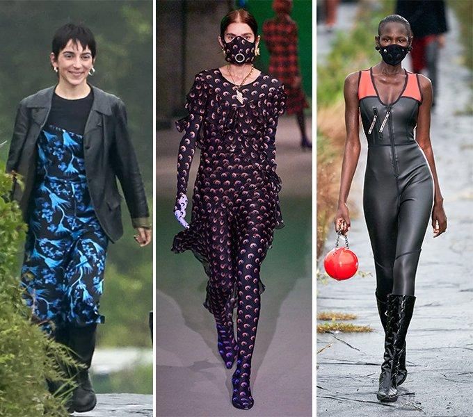 (외쪽)디자이너 마린 세르, (가운데)마린 세르 2019 F/W 컬렉션, (오른쪽)마린 세르 2020 S/S 컬렉션 /사진=마린 세르