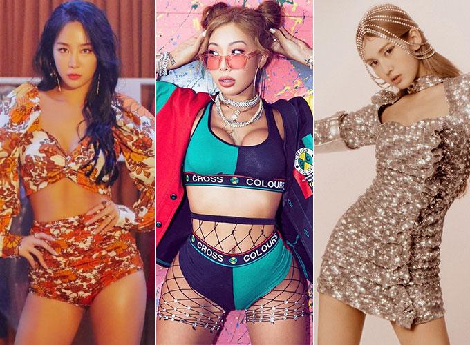 가수 소유, 제시, 전소미/사진=소유, 전소미 공식 트위터, 제시 인스타그램