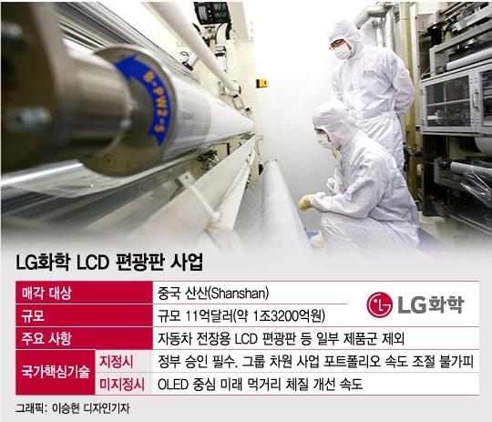 [단독]LG 1.3조 편광판 사업 中매각 정부 손에 달렸다