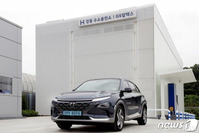 (서울=뉴스1) = 현대자동차가 수소 산업 활성화를 위해 서울 강동구에서도 수소 충전 인프라 확충에 나선다. 현대자동차는 GS칼텍스와 함께 'H강동 수소충전소'의 설비 구축을 완료해 오는 28일부터 본격적인 운영에 들어간다고 27일 밝혔다. (현대차 제공) 2020.5.27/뉴스1