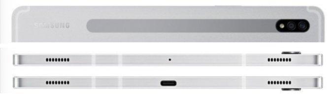 플래그십 태블릿 갤럭시탭S7 후면과 측면 /사진=윈퓨처