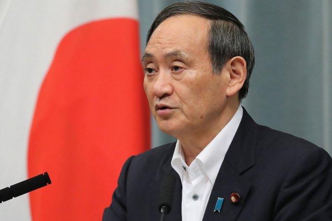 스가 요시히데 일본 관방장관. /AFPBBNews=뉴스1