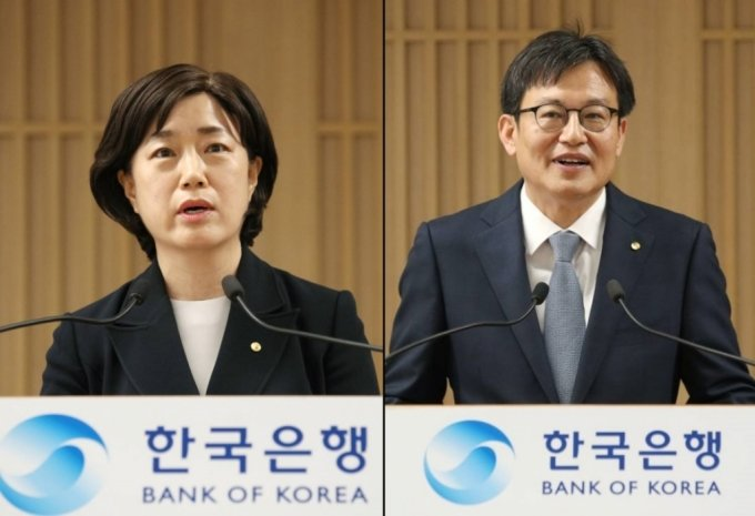 서영경 금융통화위원(왼쪽)과 주상영 금융통와위원 /사진=한국은행
