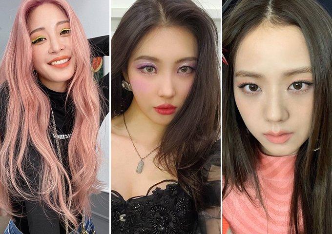 배우 한예슬, 가수 선미, 그룹 블랙핑크 지수 /사진=각 인스타그램