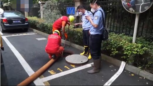 항저우 경찰이 수색작업을 벌이는 모습. /사진=바이두