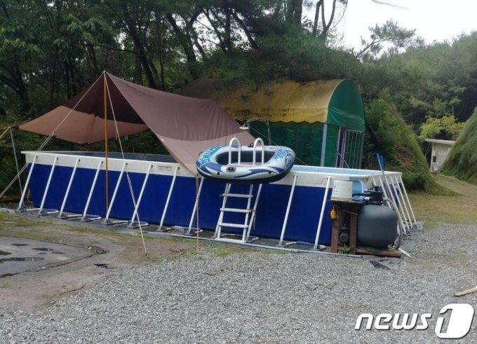 30일 강원 속초시 4, 5번째 코로나19 확진자 부부가 다녀간 홍천군 내촌면의 한 캠핑장. /사진=뉴스1