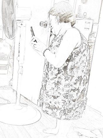 /사진=남형도 기자, My sketch 앱으로 스케치.