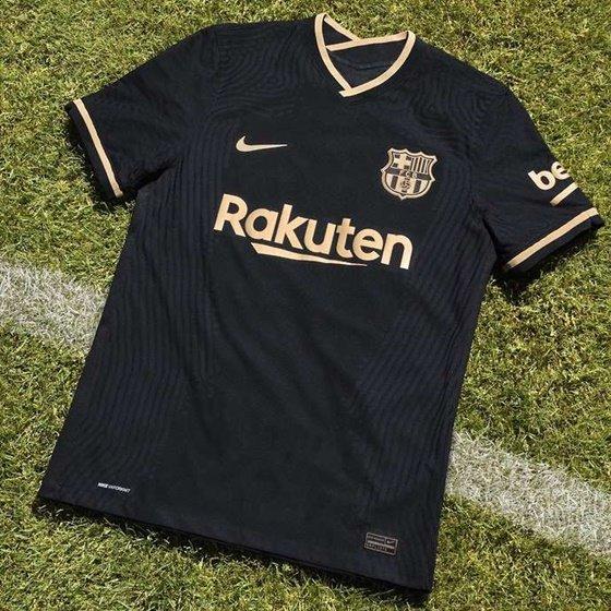 바르셀로나의 새로운 원정 유니폼. /사진=영국 기브 미 스포츠 캡처