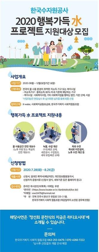 2020년 행복가득 수(水) 프로젝트 공모안내 포스터 © 뉴스1