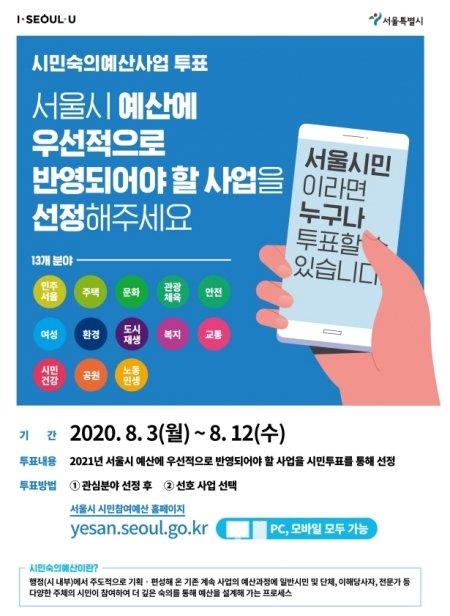 시민숙의예산사업 참여 포스터./자료=서울시 제공