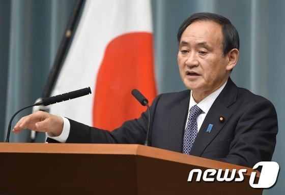 스가 요시히데(菅義偉) 일본 관방장관 <자료사진>  © AFP=뉴스1