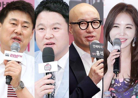 왼쪽부터 방송인 남희석, 김구라, 홍석천, 강예빈/사진=머니투데이DB