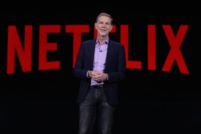 미국 라스베이거스에서 열린 가전전시회 'CES 2016 '에서 리드 헤이스팅스 넷플릭스 CEO (최고경영자)가 기조연설에 나섰다. / 사진제공=넷플릭스