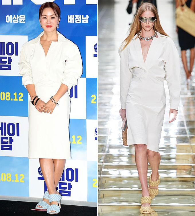 배우 엄정화, 보테가 베네타 2020 S/S 컬렉션/사진=김창현 기자, 보테가 베네타