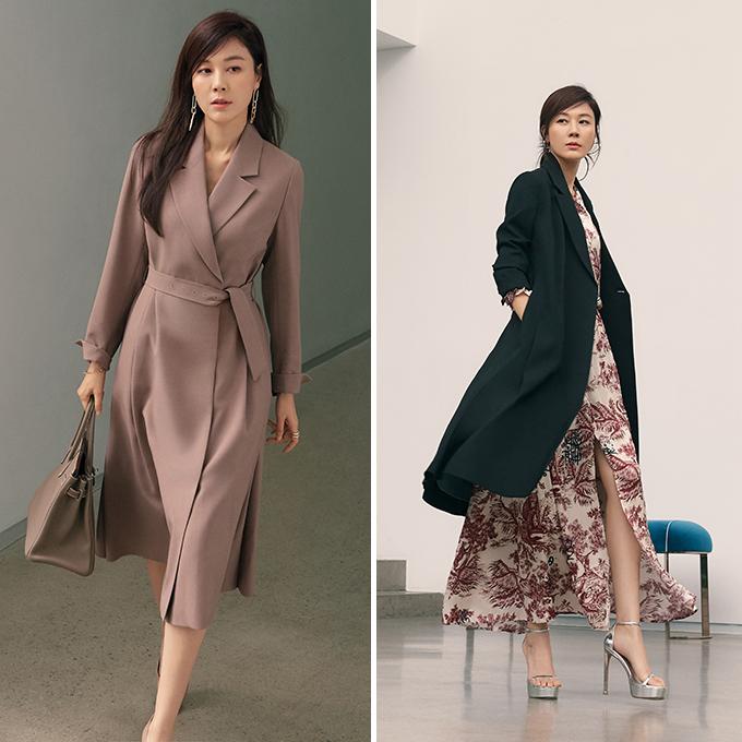 김하늘, 재킷으로 연출한 원피스 룩…매끈 각선미 '눈길' | 스타일M