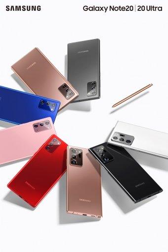 삼성전자 플래그십 스마트폰 '갤럭시노트20 울트라'와 '갤럭시노트20' /사진=삼성전자