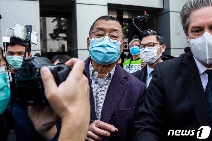 홍콩 빈과일보 창업주 지미 라이. © AFP=뉴스1