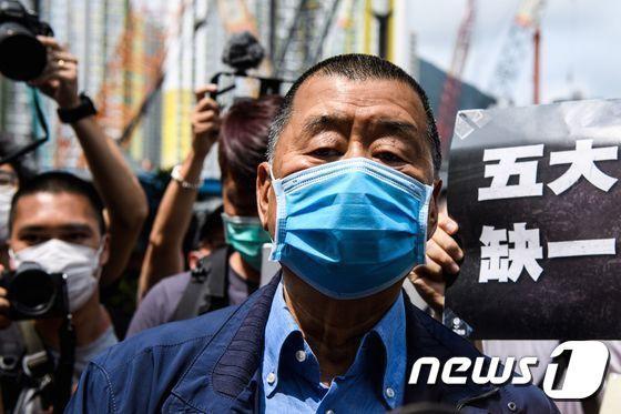 지미 라이 빈과일보 창업주. /사진=AFP, 뉴스1