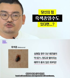 이렇게 생긴 점…'피부암' 입니다