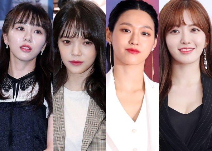왼쪽부터 AOA 출신 권민아, 지민, AOA 멤버 설현, 찬미/사진=머니투데이DB
