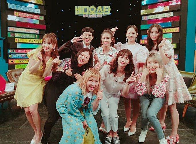 예능 프로그램 '비디오스타' 녹화 현장 사진/사진=최송현 인스타그램
