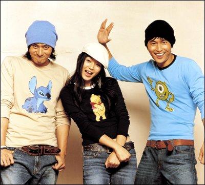장동건, 전지현, 정우성이 출현한 2005년도 지오다노 광고