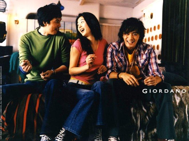 정우성, 전지현, 장동건이 함께한 지오다노 광고