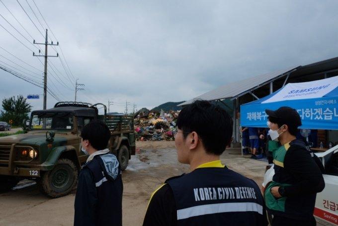 13일 오전 강원도 철원군 동송읍 이길리 마을회관 인근의 모습. /사진=박소연 기자