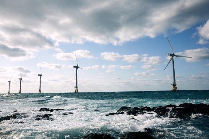 제주시 한경면 두모리와 금등리 앞바다에 위치한 탐라해상풍력발전단지.  /사진 제공=탐라해상풍력발전 / 사진제공=탐라해상풍력발전