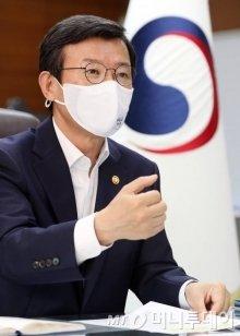 문성혁 해양수산부 장관. /사진=세종=이기범 기자 leekb@
