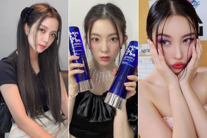 그룹 블랙핑크 지수, 레드벨벳 아이린, 가수 선미 /사진=인스타그램