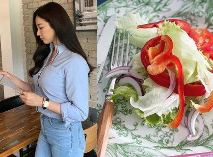 '40대' 김사랑, 그래서 동안이었나…드레싱 없이 생야채만 먹는다
