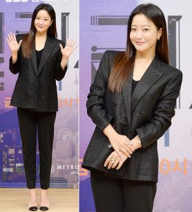 '앨리스' 김희선, 완벽한 슈트 룩…'원조 미인'의 세련미