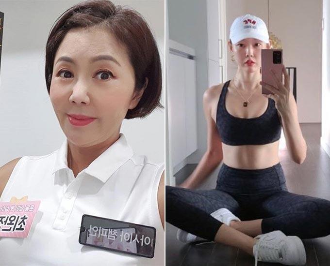 배우 최완정, 모델 한혜진/사진=최완정, 한혜진 인스타그램