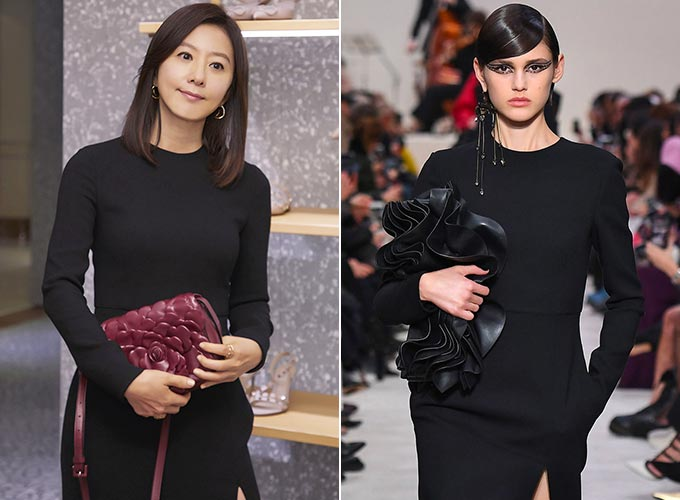 배우 김희애, 발렌티노 2020 F/W 컬렉션 쇼/사진제공=발렌티노