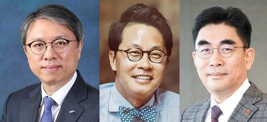 왼쪽부터 김대환 삼성카드 대표, 조좌진 롯데카드 대표, 이동면 BC카드 사장/사진제공=각사