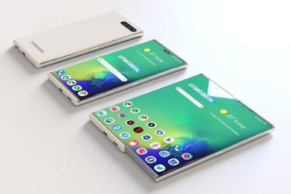 삼성전자가 취득한 롤러블폰 특허를 기반으로 만들어진 예상도 /사진=렛츠고디지털