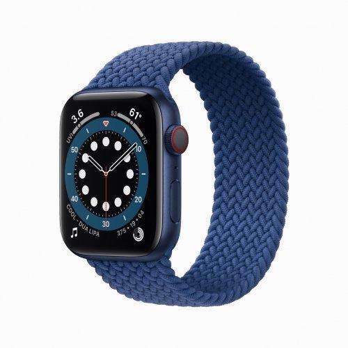 애플워치 시리즈6 블루 색상 /사진=애플