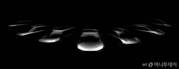 기아자동차가 오는 2027년까지 출시할 전용 전기차 7개 모델의 스케치 이미지/사진제공=기아차