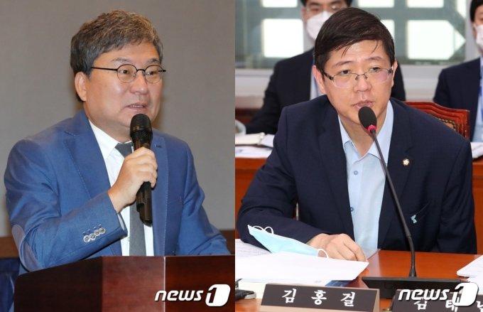 더불어민주당 이상직 의원(왼)과 김홍걸 의원/사진=뉴스1