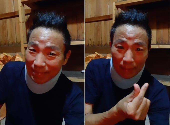 '폐암 4기' 개그맨 김철민, 목 깁스한 모습…