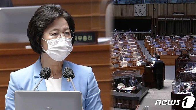 대정부질문 마지막 날 추미애 장관 © 뉴스1 송영성 기자
