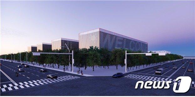 지난 16일 새만금에 2조원 투자를 결정한 SK컨소시엄의 데이터센터 조감도.(새만금개발청 제공)2020.9.21 /© 뉴스1