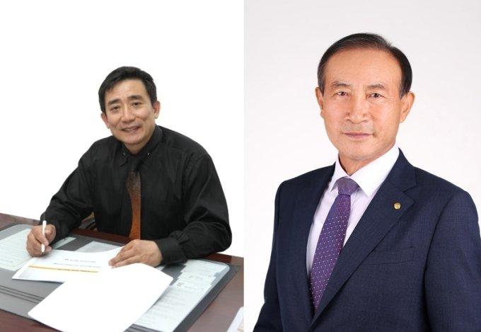 오성환 이오컨벡스 대표(왼쪽), 윤현 평화여행사 대표. /사진=문체부