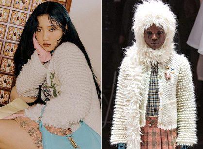 """화사 vs 모델, 같은 옷 다른 느낌…""""어디가 다를까?"""""""