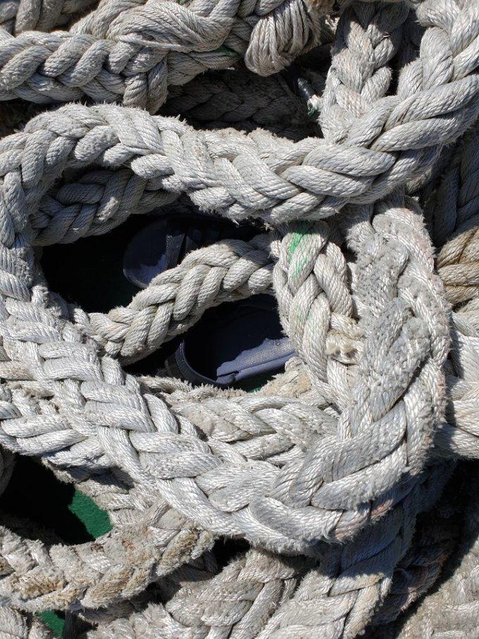 어업지도선 무궁화10호에서 발견된 해수부 공무원 A씨의 슬리퍼. /사진=해양경찰청