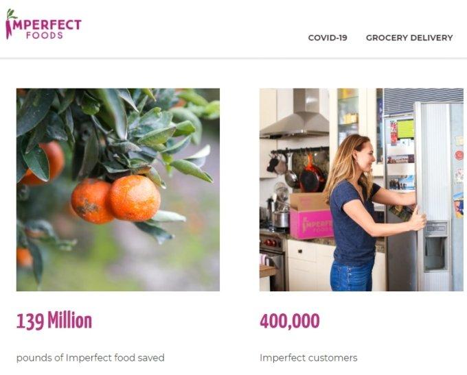 못난이 식재료를 저렴한 가격에 가정까지 배송하는 미국 스타트업 임퍼펙트 푸드(Imperfect Foods). 1억3900만 파운드의 못난이 식재료의 손실을 막았다고 설명한다. /사진=Imperfect Foods 홈페이지