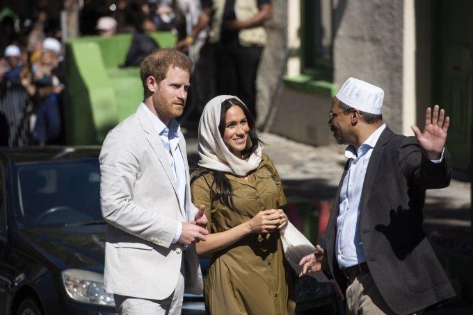 2019년 9월24일 보캅 마을을 방문한 해리 왕자와 메건 마클 /사진=AFP=뉴스1