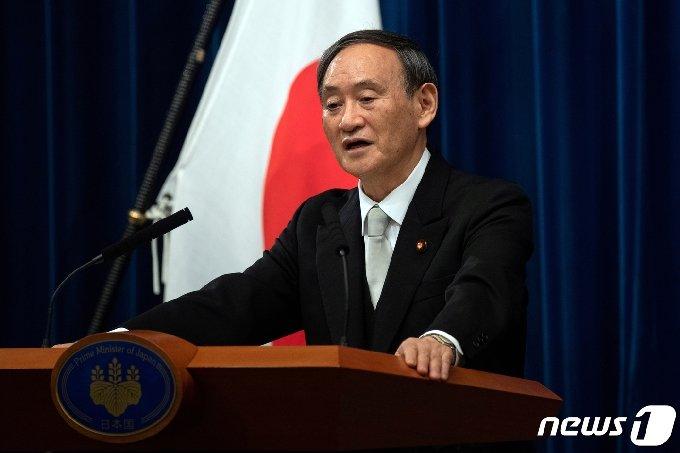 스가 요시히데(菅義偉) 일본 총리.© 로이터=뉴스1